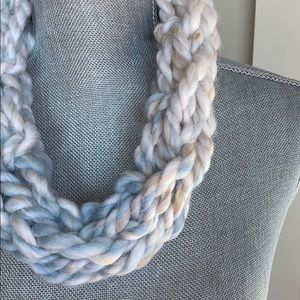 Sand Handmade Arm Knit Infinity Scarf